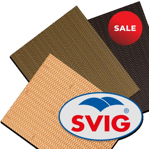 SALE %      Листы для ремонта обуви от фирмы SVIG